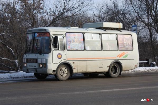 Автобусов на курганских маршрутах в новогодние праздники станет меньше, напоминают в администрации