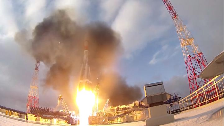 На космодроме Плесецк во второй раз в этом году запустили ракету «Союз-2»