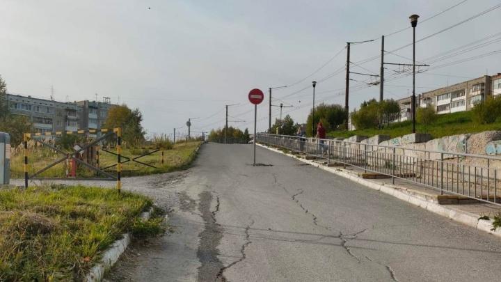 В Березниках установили запрещающий знак по центру дороги