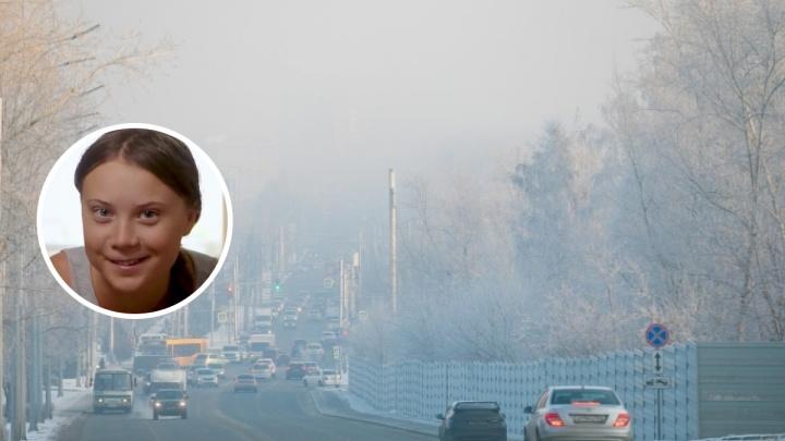 Молодая эко-активистка Грета Тунберг поддержала борцов против «черного неба» в Красноярске