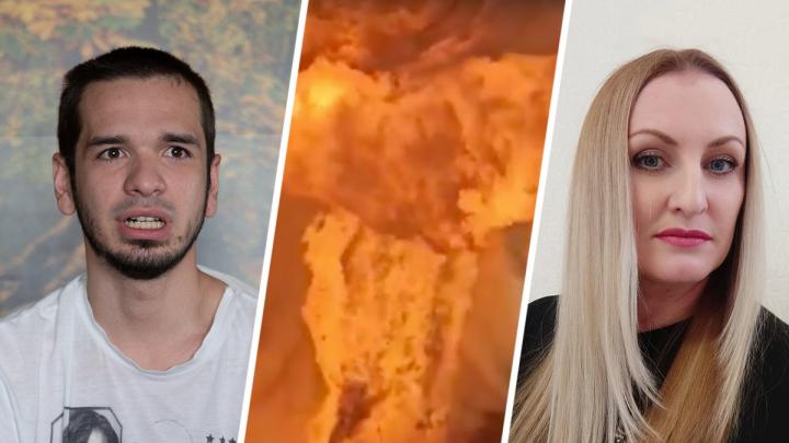 «Меня обжигает огнём»: волгоградка, снявшая эпичное видео взрыва на автозаправке, получила ожоги