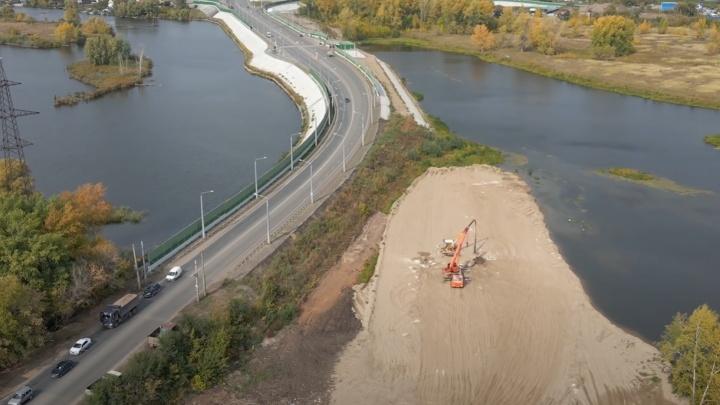 К Самарскому (Фрунзенскому) мосту протянули новую дорогу