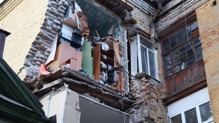 Районные власти назвали причину обрушения стены дома на Галактионовской