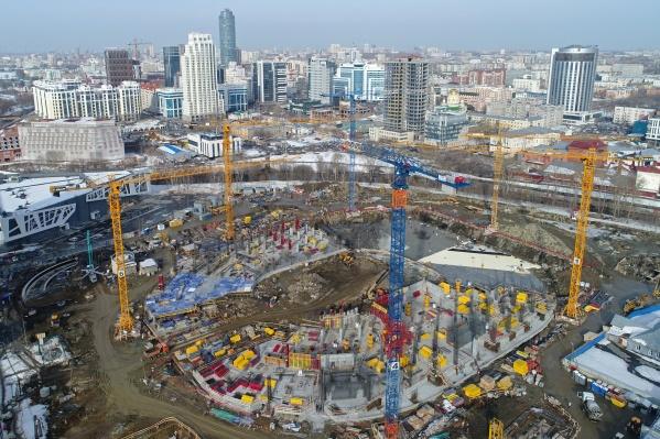 Строительство ледовой арены началось в сентябре 2019 года