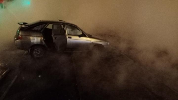 В ПТС рассказали о прорыве трубы на Физкультурной, где авто провалилось под асфальт