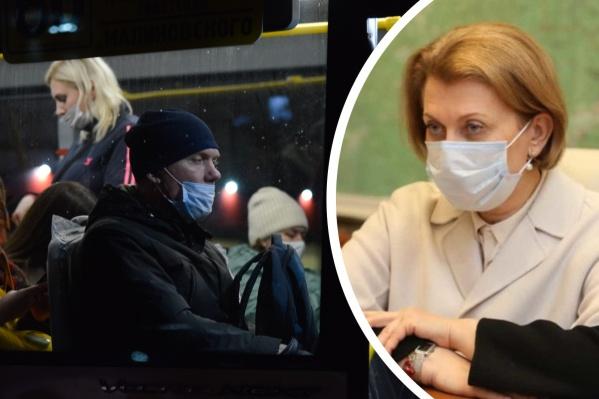 В ноябре Анна Попова также отмечала, что в Архангельской области плохо соблюдают ограничения по COVID-19 <br>