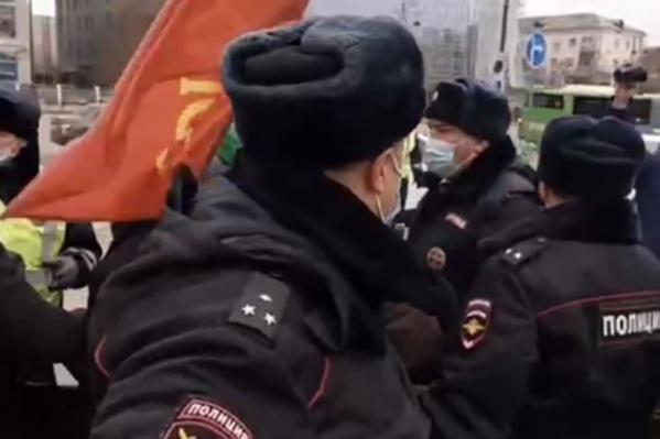 Акция началась с задержания Черепанова