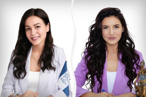 Журналист Марина (слева) и юрист Оксана (справа) стали полуфиналистками конкурса «Мисс офис— 2020»