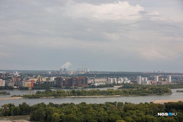 Лучше всего будущий городской парк на острове видно с колеса обозрения на набережной или с ЖК «Панорама»