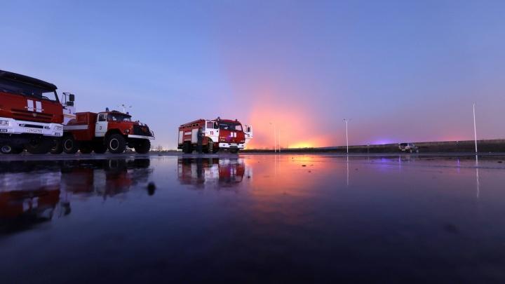 Пожар на левом берегу Дона потушили через 12 часов: онлайн-трансляция