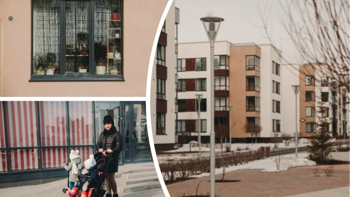 Скандинавский стиль по-тюменски: гуляем по новому району «Ожогино» с его таунхаусами и парадными