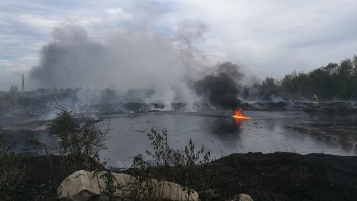 Около мазутных озер в Самаре устроили незаконную свалку отходов