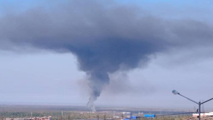 В Норильске горит полигон бытовых отходов