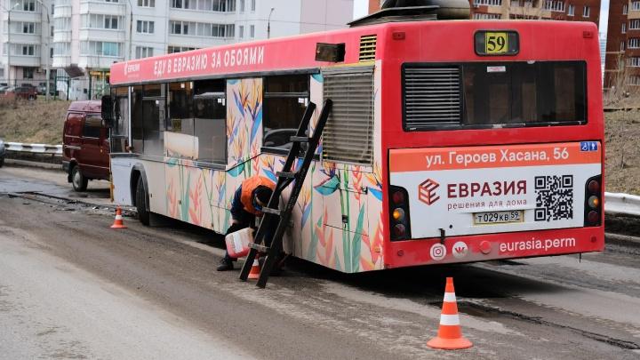 В ГИБДД Перми рассказали подробности столкновения легковушки и автобуса № 59