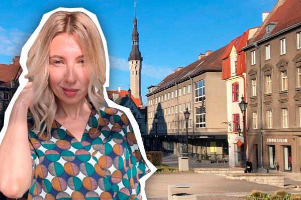 Наталья работает в Таллине журналистом на русскоязычном телеканале