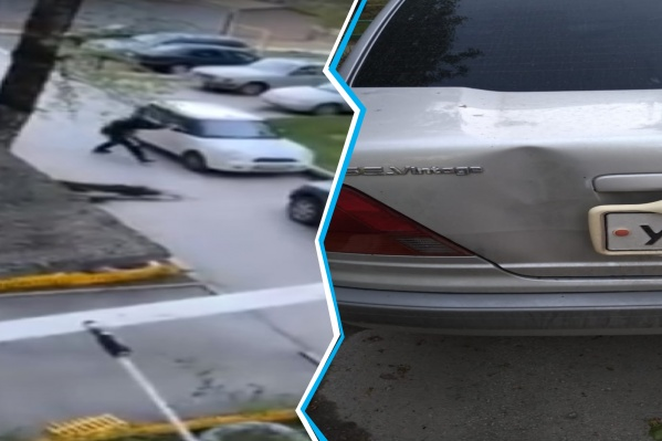 Нападавший повредил несколько автомобилей