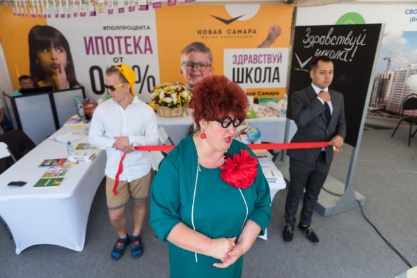 На площадке микрорайона «Новая Самара» провели юмористическую репетицию открытия школы