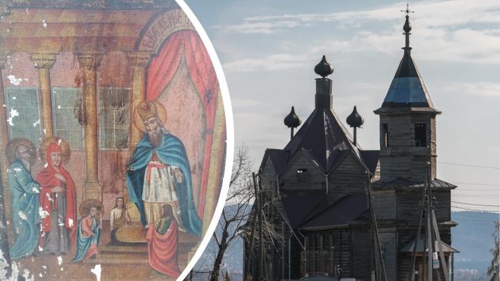 Под Красноярском нашли старинную редкую икону с авторской подписью