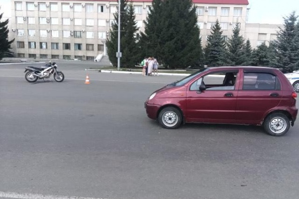 У мотоциклиста не было прав