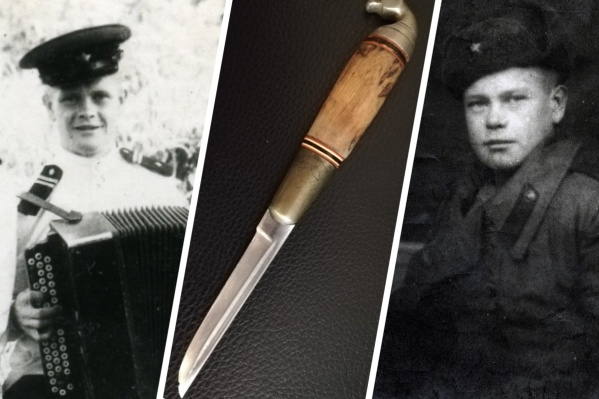 Слева — Лев Панчетовский в начале фронтового пути, справа — он же после Победы во время советско-японской войны