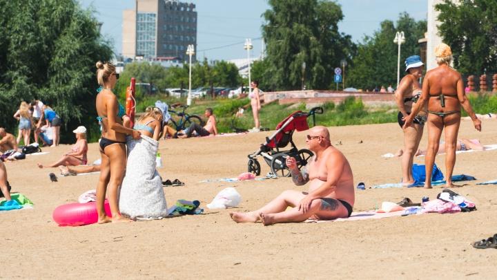 Жаркая погода в Омске сохранится и на выходных