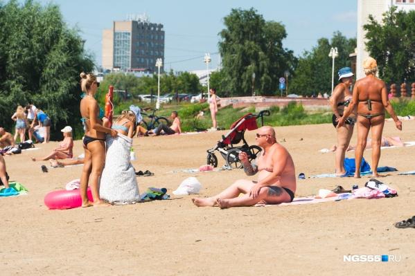 Жара в Омске продолжается уже две недели