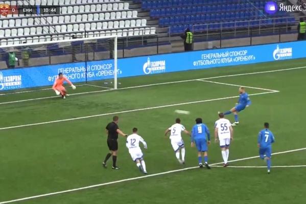 Первый гол «Енисей» забил с пенальти