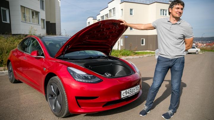 Владелец новой Tesla рассказал об опыте владения электрокаром в Красноярске