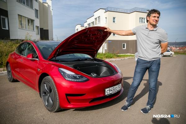 В основном по России ездят электрокары с большим пробегом. Александр же купил автомобиль 2020 года выпуска