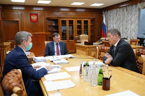 О ходе работы Хабиров рассказал на встрече с зампредседателя правительства РФМаратом Хуснуллиным