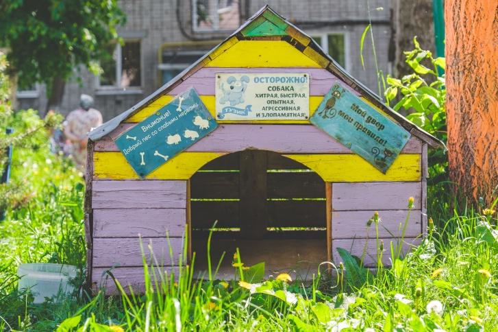 Когда-то в этой будке жил пёс Серёга. Сейчас его уже нет, но местные жители до сих пор приносят к будке мисочку с водой