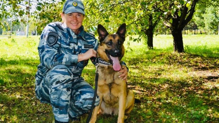 Кузбасского кинолога признали лучшим в России. Она подготовила 11 служебных собак