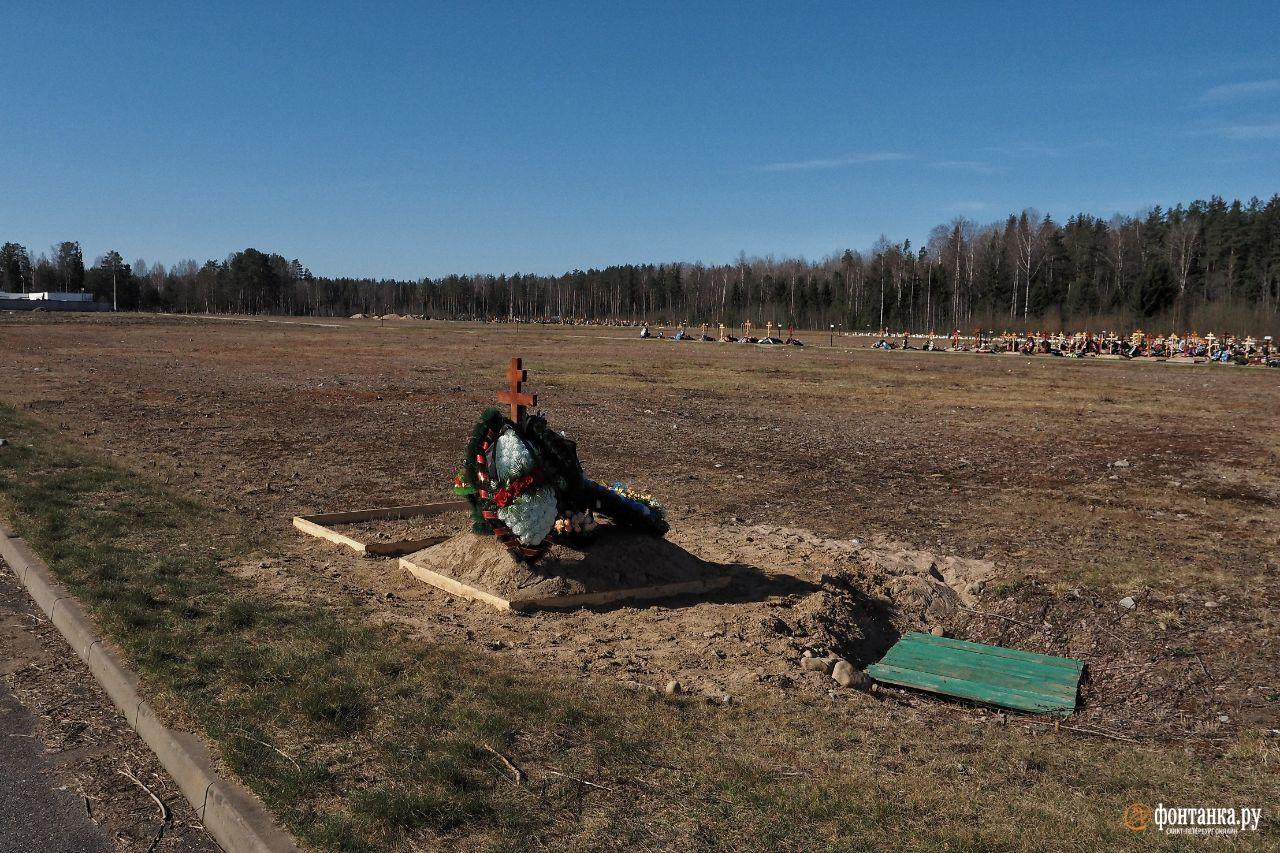 Кладбище «Илики», апрель 2020 года<br><br>автор фото Михаил Огнев / «Фонтанка.ру»