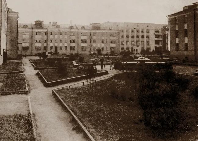 Старая фотография городка