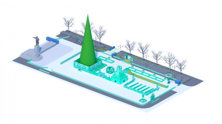 Изумрудная площадь: каким будет главный ледовый городок Екатеринбурга в этом году