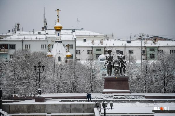 Первый мощный снегопад в Екатеринбурге в этом сезоне случился в ноябре