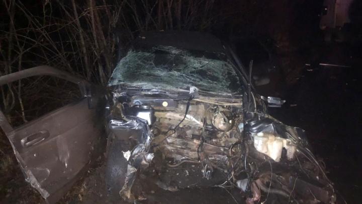 Нутро наизнанку: на трассе в Самарской области ВАЗ протаранил грузовик