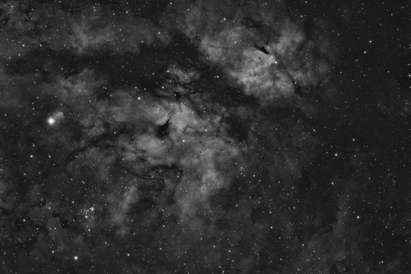 Крупная звезда в левой части кадра — Садр