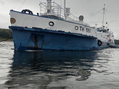 Отправлено в суд дело водителя катера, протаранившего речной танкер