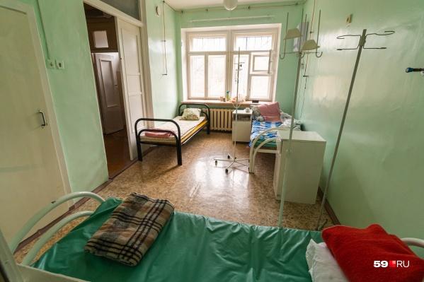 Один из боксов в инфекционном отделении больницы им. Вагнера