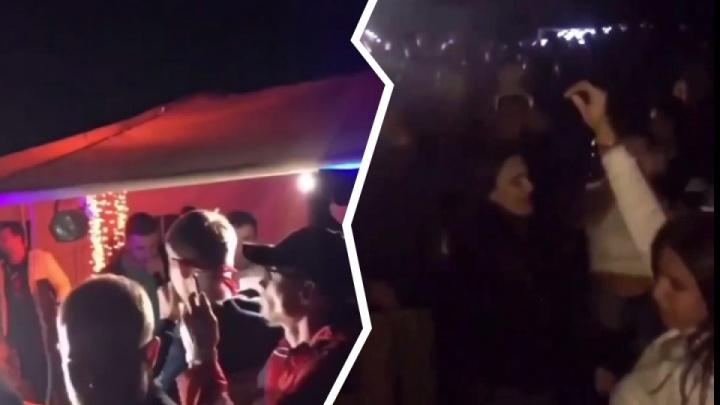 Участника скандальной вечеринки у Бугринского моста оштрафовали за отсутствие маски