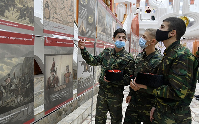 В Омске открыли передвижную планшетную выставку «Казачество на государевой службе»