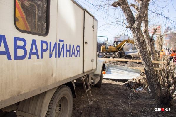 На сетях проводит работы «РВК-Архангельск»