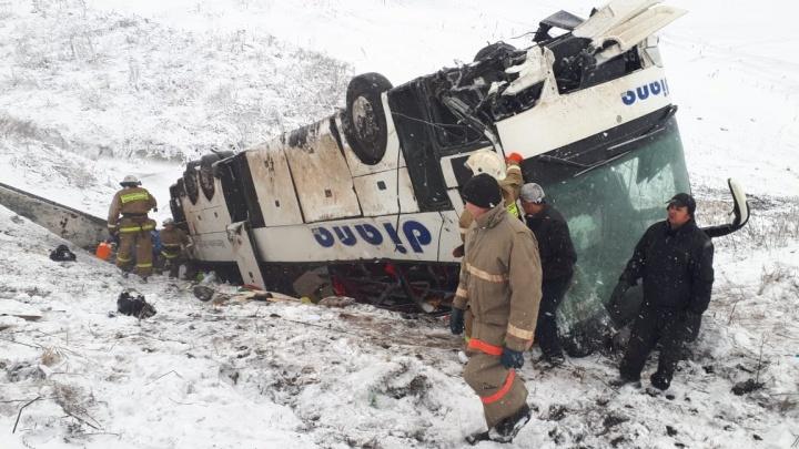Под Тамбовом упали в овраг автобусы из Волгограда: 18 пострадавших и трое погибших
