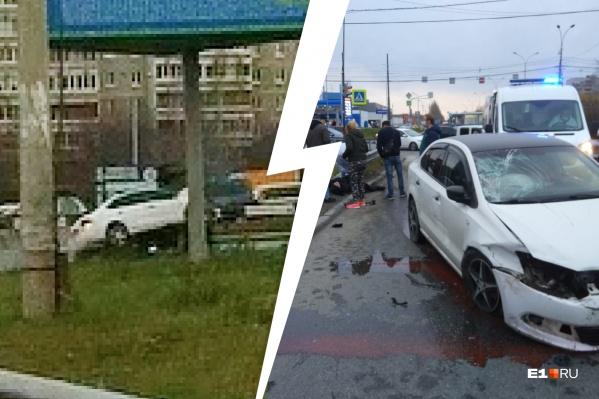 Мужчина ударился о лобовое стекло, разбил его, пролетел и упал на землю
