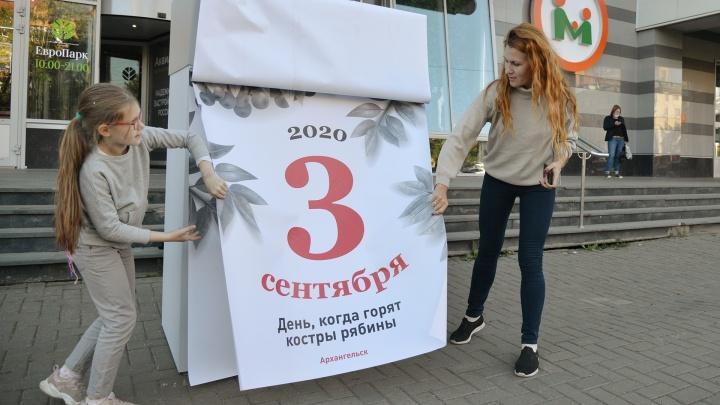 «Я календарь переверну, и снова 3 сентября!»: в Архангельске появился памятник песне-мему