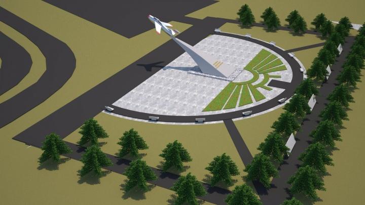 В Ярославле хотят разбить 100-метровый парк с монументом в виде реактивного самолёта
