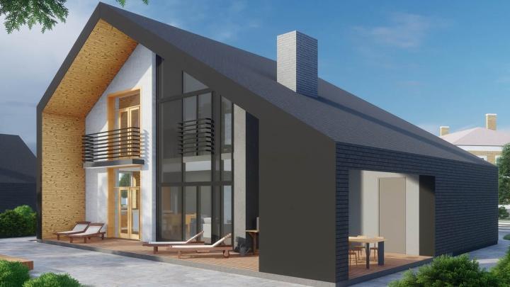 Началось строительство нового коттеджного поселка «Золотой камень» на берегу озера Шарташ