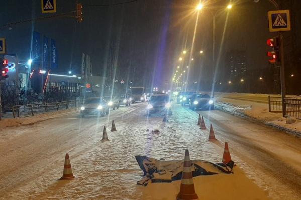 «Газель» пронеслась на красный не останавливаясь и сбила одного из двоих переходивших дорогу мужчин