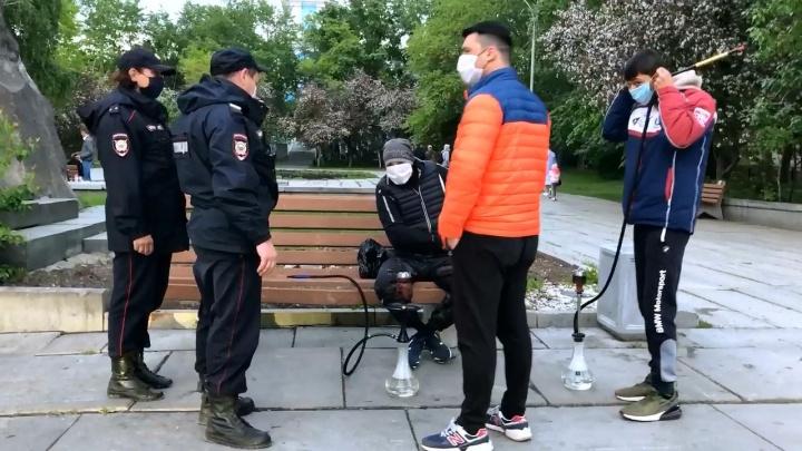 Полицейские разогнали кальянщиков на Вознесенской горке